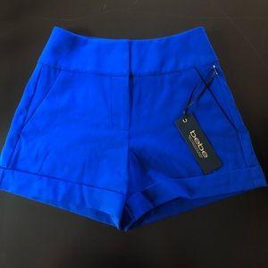 Blue high waisted bebe shorts